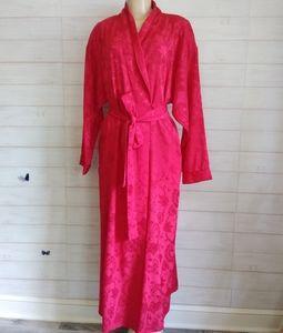 vintage victoria's secret gold label red robe